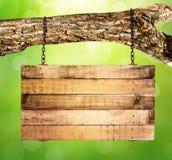 Attaccatura di legno vuota del segno illustrazione vettoriale