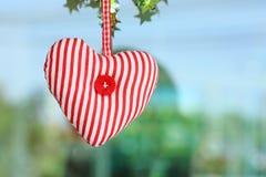 Attaccatura rossa del tessuto del cuore Immagine Stock Libera da Diritti