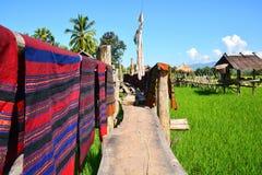 Attaccatura tradizionale tailandese nordica dei tessuti fotografia stock libera da diritti