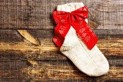 Attaccatura tricottata sveglia del calzino di Natale Immagine Stock