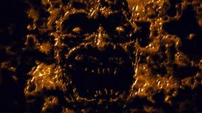Attacchi affamati del vampiro Colore arancione fotografia stock libera da diritti