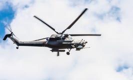 Attacchi con elicottero di Mi-28N (distruzione) Fotografia Stock