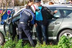 Attacchi della Francia Parigi - confini la sorveglianza con la Germania immagini stock
