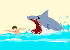 Attacchi dello squalo Fotografia Stock