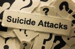 Attacchi di suicidio fotografia stock