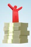 Attacchi il successo dei soldi dell'uomo Illustrazione di Stock