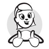Attacchi la figura le emozioni di serie - pollici su, felice royalty illustrazione gratis