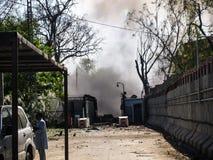 Attacco americano del consolato a Peshawar, Pakistan fotografia stock libera da diritti