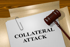 Attacco collaterale - concetto legale Fotografia Stock Libera da Diritti