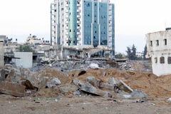 Attacco con bombe di mattina su gaza Fotografia Stock Libera da Diritti