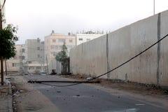Attacco con bombe di mattina su gaza Immagine Stock