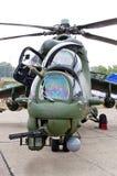 Attacco con elicottero polacco Mi-24 su Radom Airshow, Polonia Immagine Stock