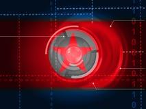 Attacco cyber tramite l'illustrazione criminale della spia 3d della Corea del Nord illustrazione vettoriale