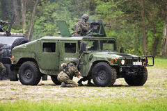 Attacco dei soldati Immagine Stock Libera da Diritti