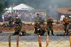 Attacco dei soldati Fotografia Stock Libera da Diritti