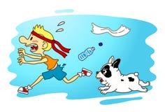 Attacco del cane Fotografia Stock