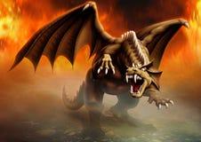 Attacco del drago Immagine Stock