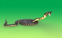attacco del serpente della cobra reale 3d Fotografia Stock Libera da Diritti