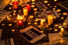 Attacco del terrorismo di Charlie Hebdo Immagini Stock