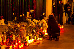 Attacco del terrorismo di Parigi immagine stock