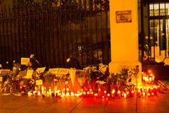 Attacco del terrorismo di Parigi fotografie stock