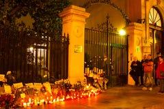 Attacco del terrorismo di Parigi immagini stock libere da diritti