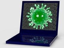 Attacco del virus di calcolatore Fotografia Stock Libera da Diritti