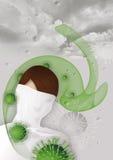 Attacco del virus di influenza Immagine Stock Libera da Diritti