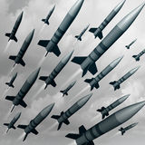 Attacco dell'arma del missile Fotografie Stock