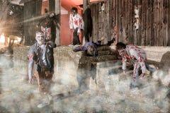 Attacco dello zombie Fotografia Stock Libera da Diritti