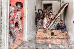 Attacco dello zombie Fotografie Stock Libere da Diritti