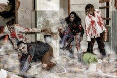 Attacco dello zombie Immagini Stock Libere da Diritti
