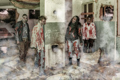 Attacco dello zombie Immagini Stock