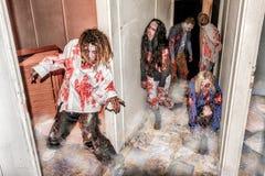 Attacco dello zombie Fotografia Stock