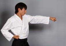 Attacco di arti marziali Fotografia Stock