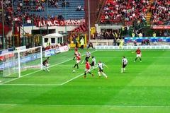Attacco di calcio Immagine Stock Libera da Diritti