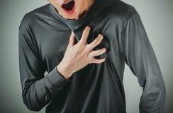 attacco di cuore dell'uomo Fotografie Stock