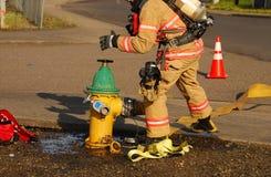 Attacco di fuoco Fotografia Stock