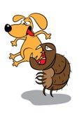 Attacco di infestazione della pulce del cane dell'animale domestico royalty illustrazione gratis