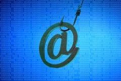 Attacco phishing del email Fotografia Stock