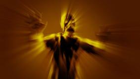 Attacco spettrale dello zombie del demone con a braccia aperte illustrazione 3D Fotografia Stock