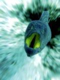 Attacco subacqueo di moray Fotografie Stock