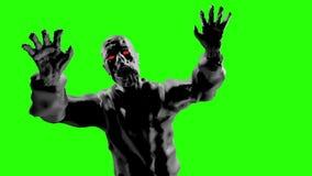 Attacco torvo dello zombie con a braccia aperte royalty illustrazione gratis