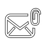 Attach file email setup isolated icon design. Illustration eps10 graphic Stock Photography