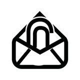 Attach file email setup isolated icon design. Illustration eps10 graphic Stock Photos