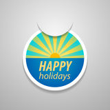 Attach happy holidays sticker. Royalty Free Stock Photos