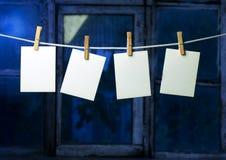 attach odziewa fotografii cztery papierowej szpilki rope Zdjęcie Stock