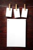 attach ubrań papierowa fotografii szpilek arkana zdjęcie stock