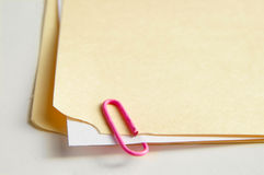 Attached paper Royalty Free Stock Images