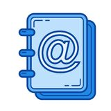 Attached photo line icon. Stock Photo